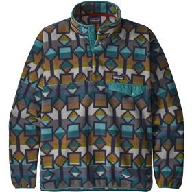Patagonia Lightweight Synchilla Snap-T Pullover Men Cedar Mesa Big/Neo Navy